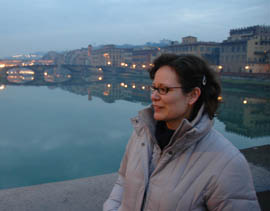 Dolly in front of Ponte Vecchio in Florence, Italy
